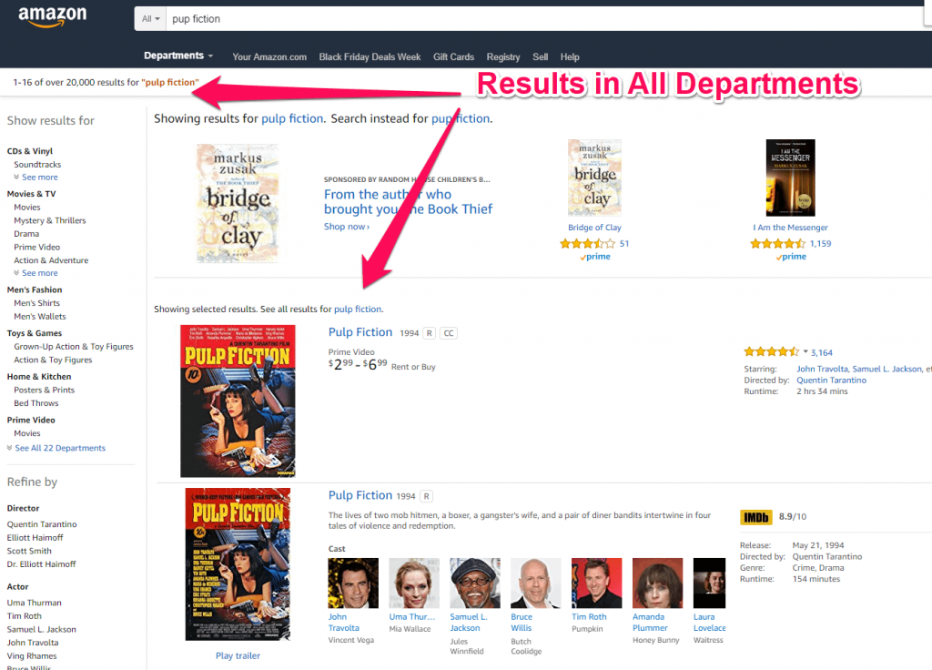 Results in All departments Amazon