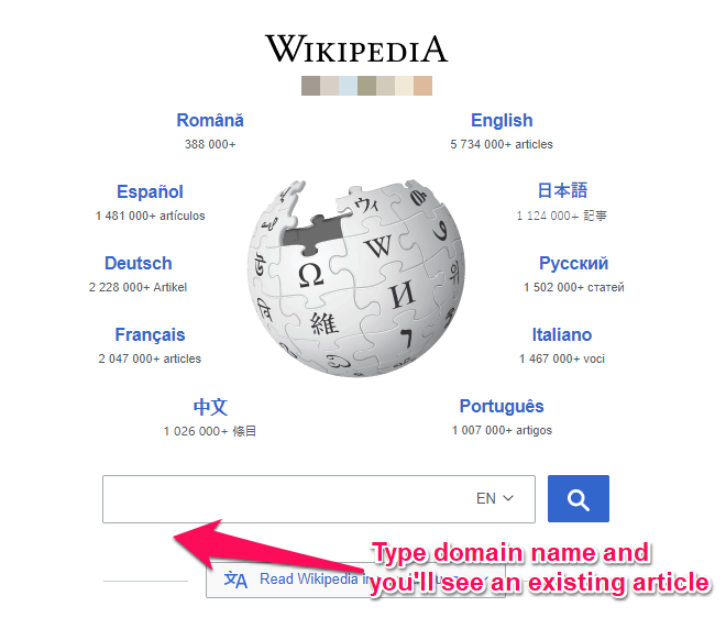 Search on Wikipedia
