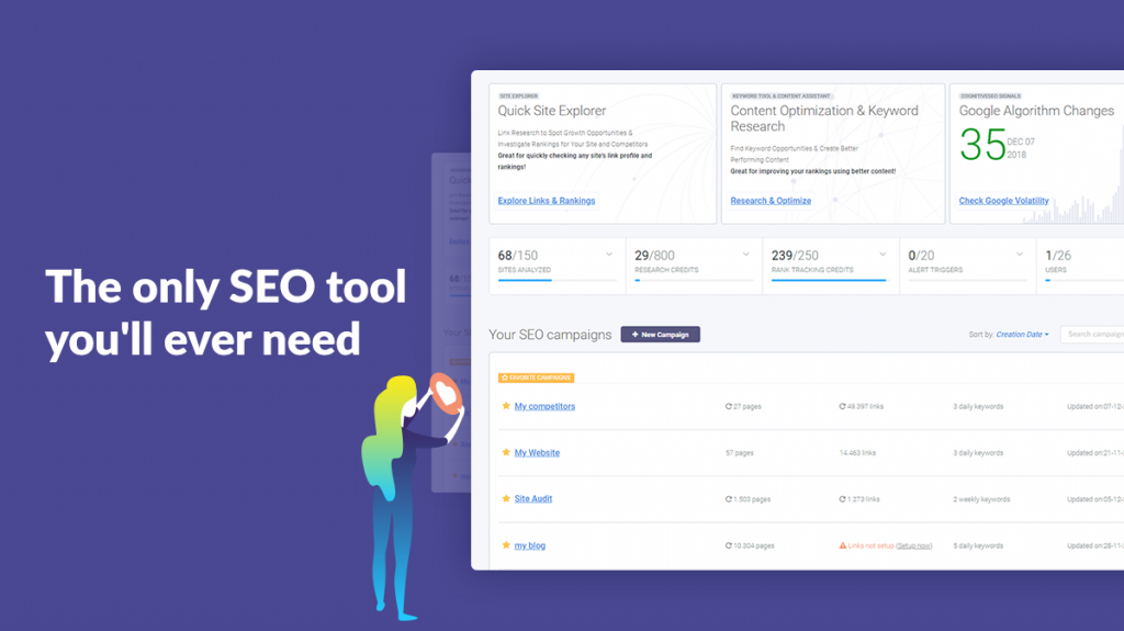 cognitiveSEO the only SEO tool you'll need