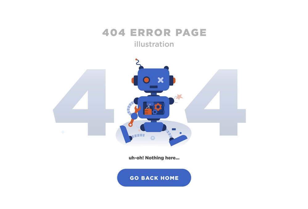 Broken page