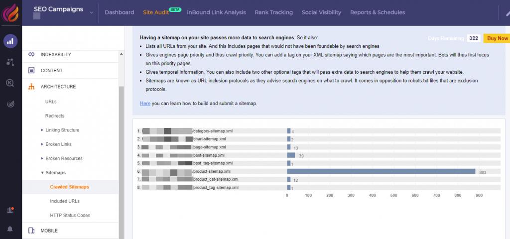 Sitemap Site Audit