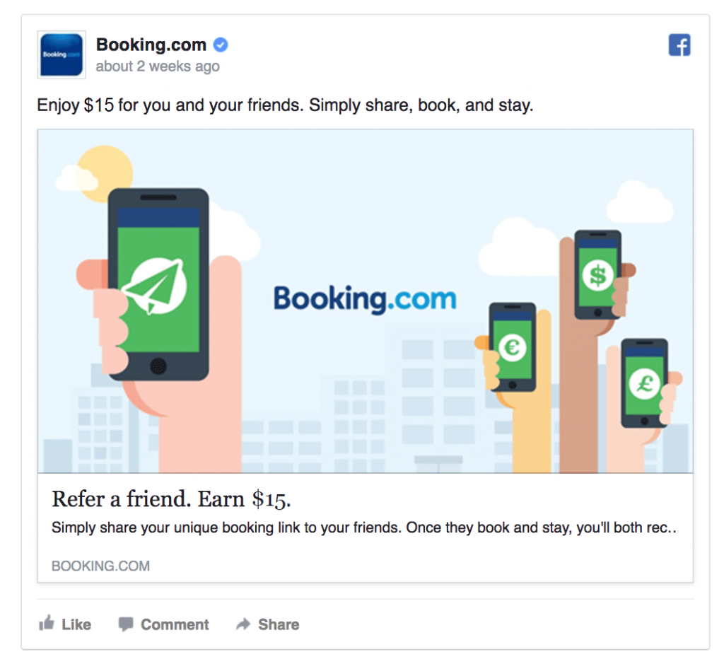 Booking referral program