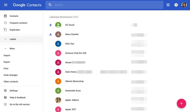 """""""Google"""" kontaktai"""