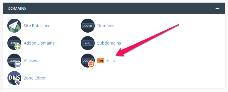 301 redirects cpanel