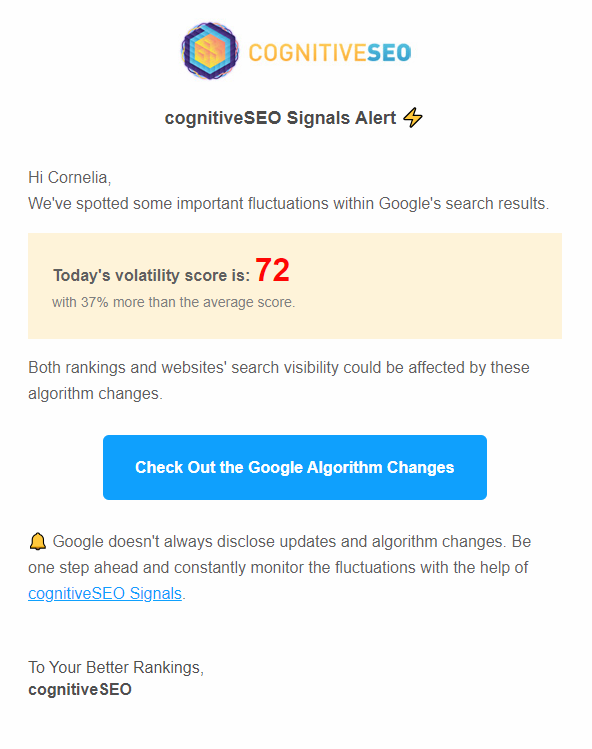 signals notification