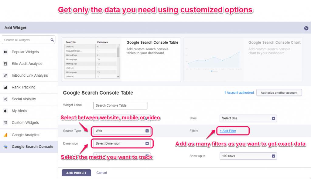 Customize cognitiveSEO widgets