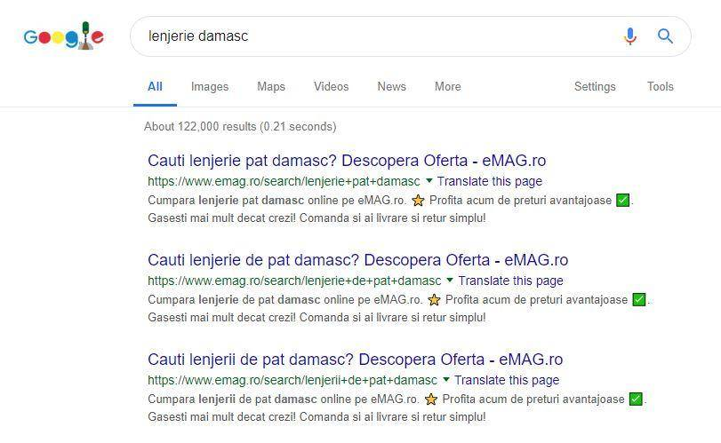 Google Duplicate Content Fail eCommerce