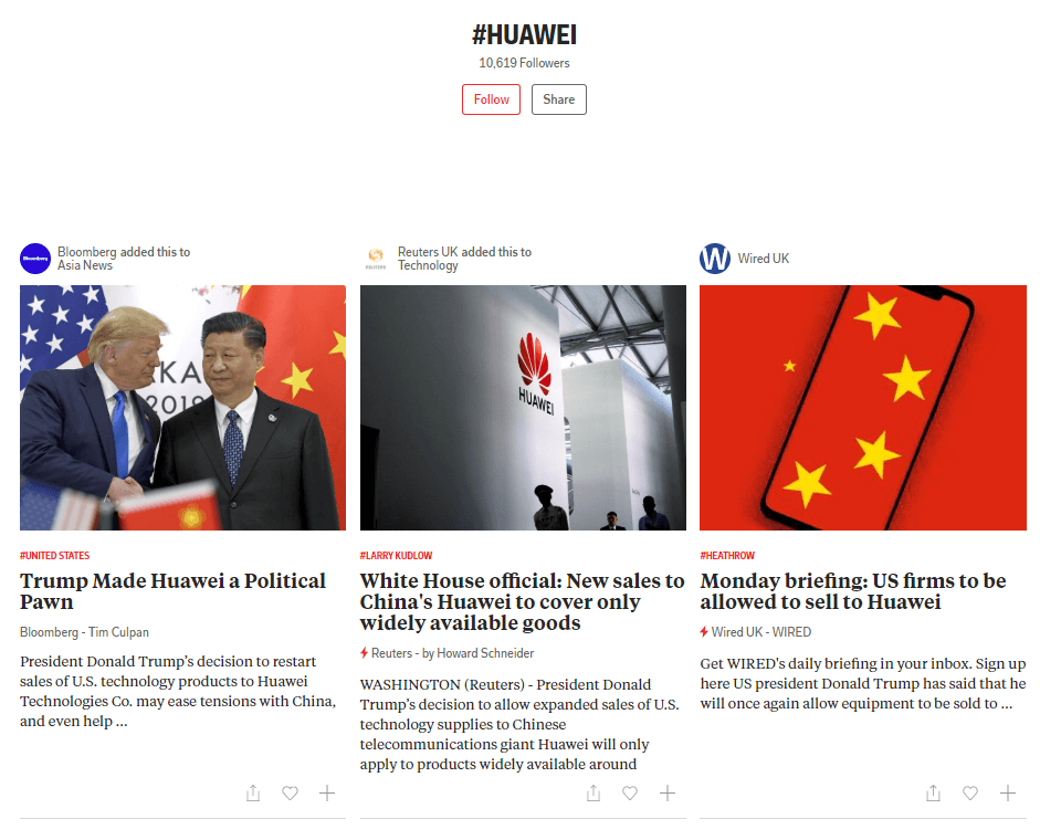 Huawei on flipboard