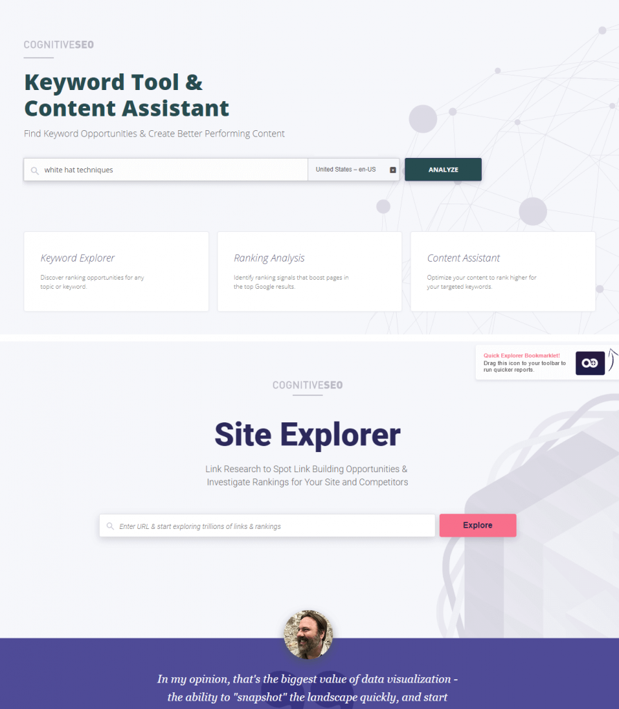 Keyword Tool and Site explorer