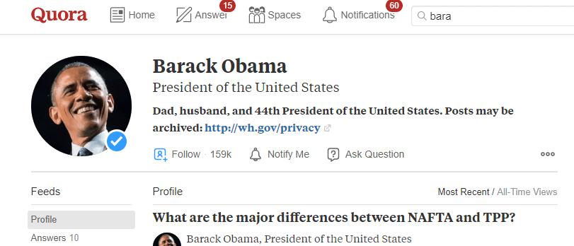 Quora Barack Obama