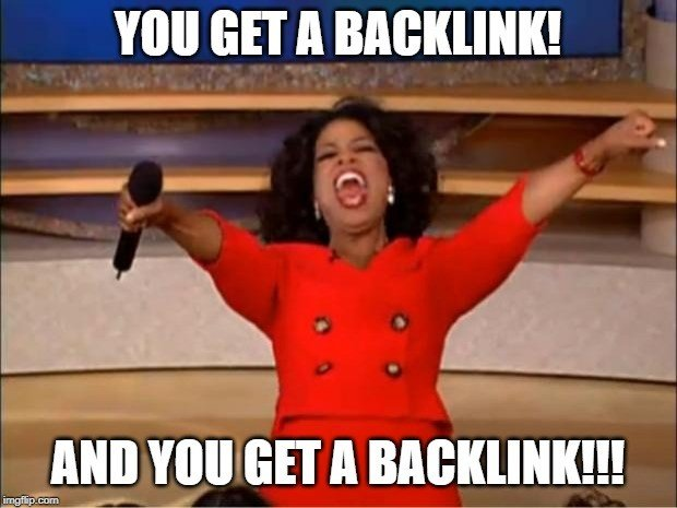 Free backlinks with e-mail outreach