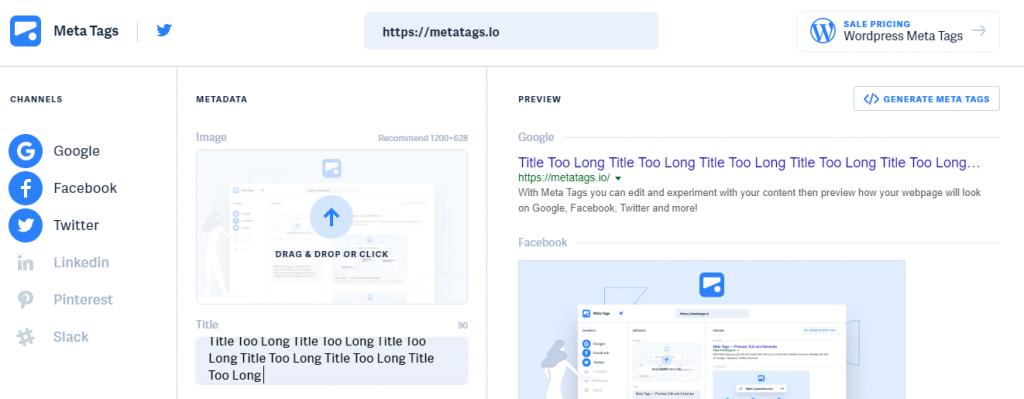 Meta Tags Check Title Length