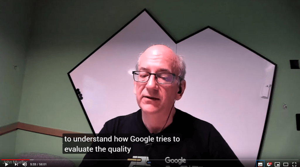 John Mueller talks about quality content