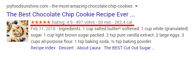 Marca de esquema de receta