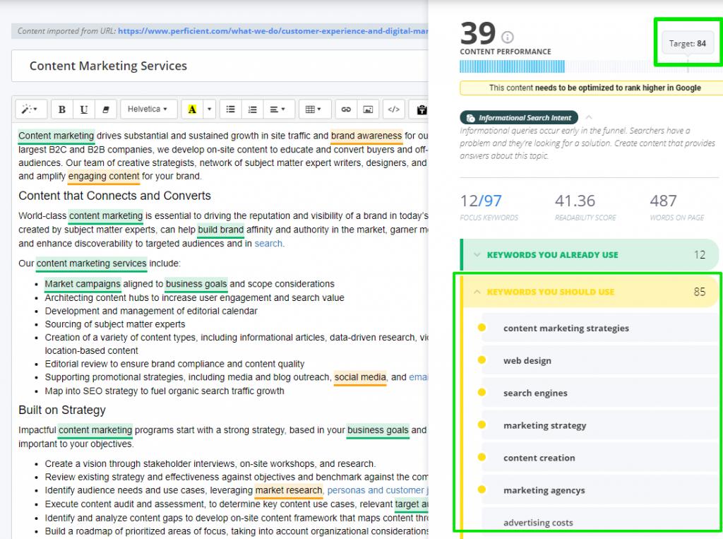 turinio rinkodaros paslaugos - turinio optimizavimas